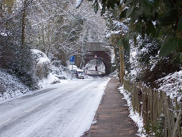 The railway arch, looking down Mid Street