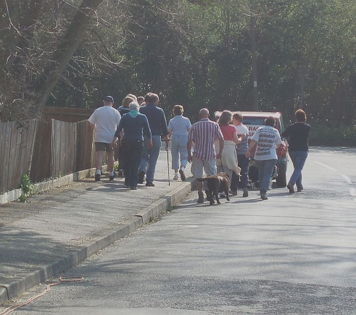 The Walkers set off